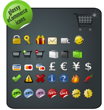 glossy-ecommerce-icons